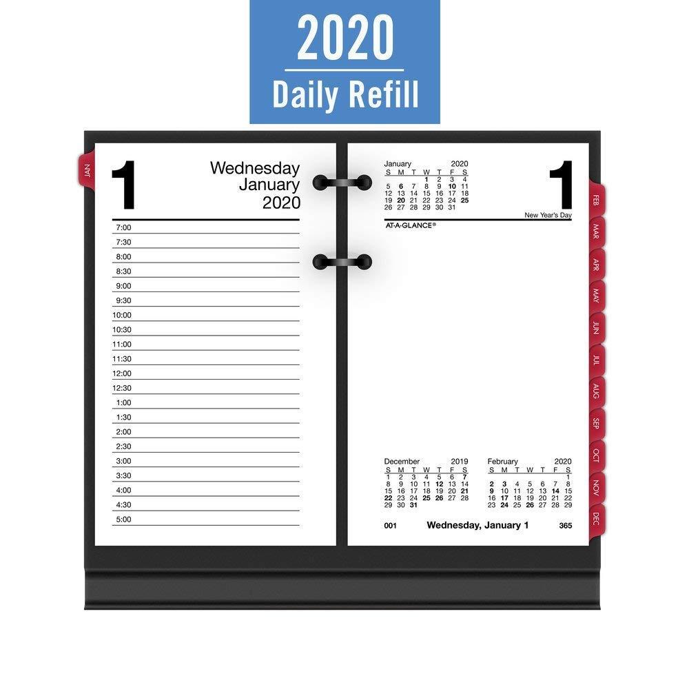 Amazon.com: AT-A-GLANCE 2020 - Recambio de calendario de ...
