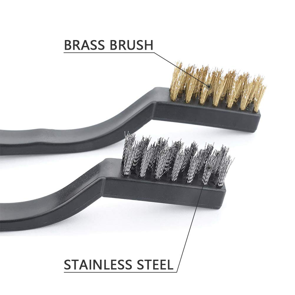 12 Stainless Steel Scratch Brushes Welding Brushes USA MADE