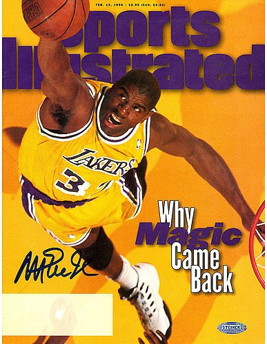 Magic Johnson 2/12/96 Signed Sport Illustrated Magazine - Certified Authentic Autograph