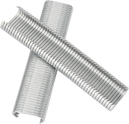 Akozon Clip tipo C 2500 piezas 8 mm Alicates para anillos de cerdos para vallas de animales Alicates para vallas de grapas Jaula de cojín para sofá M conjunto de uñas
