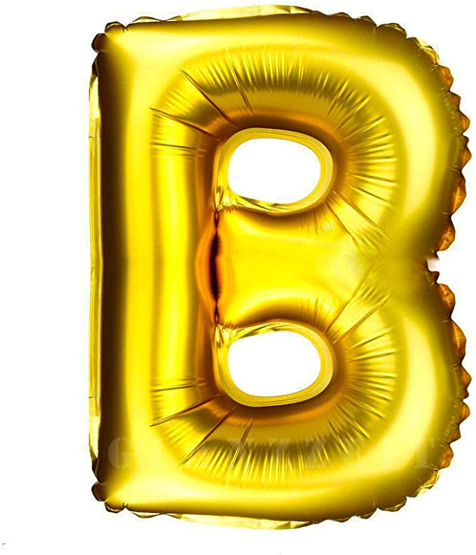 4youquality Gold Silver Blue /& Pink 16 Alphabet Letter A-Z /& Number 0-9 Foil Balloons For Wedding Party Name Non-Float Number 0, Gold