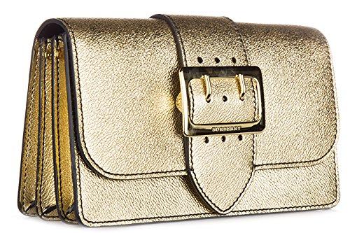 Burberry sac femme bandoulière en cuir metallic buckle or