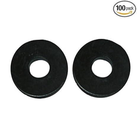 LASCO 02-1100D Size 00 Flat Faucet Bibb Washer, Black Neoprene, 100 ...