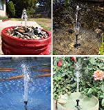 Lewisia 1.8W Solar Water Fountain Pump for Pool Koi Pond Pot Bird Bath Garden Decoration Solar Powered Submersible Water Pump Kit