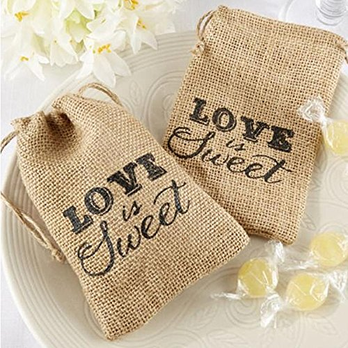 20pcs Burlap Gift Bag with Drawstring for Christmas Wedding Party Favor Pouch Jute Gift Bags 3.5 × 5.5 inch]()