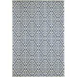 """Momeni Rugs BAJA0BAJ-4NVY2346 Baja Collection, Contemporary Indoor & Outdoor Area Rug, Easy to Clean, UV protected & Fade Resistant, 2'3"""" x 4'6"""", Navy Blue"""
