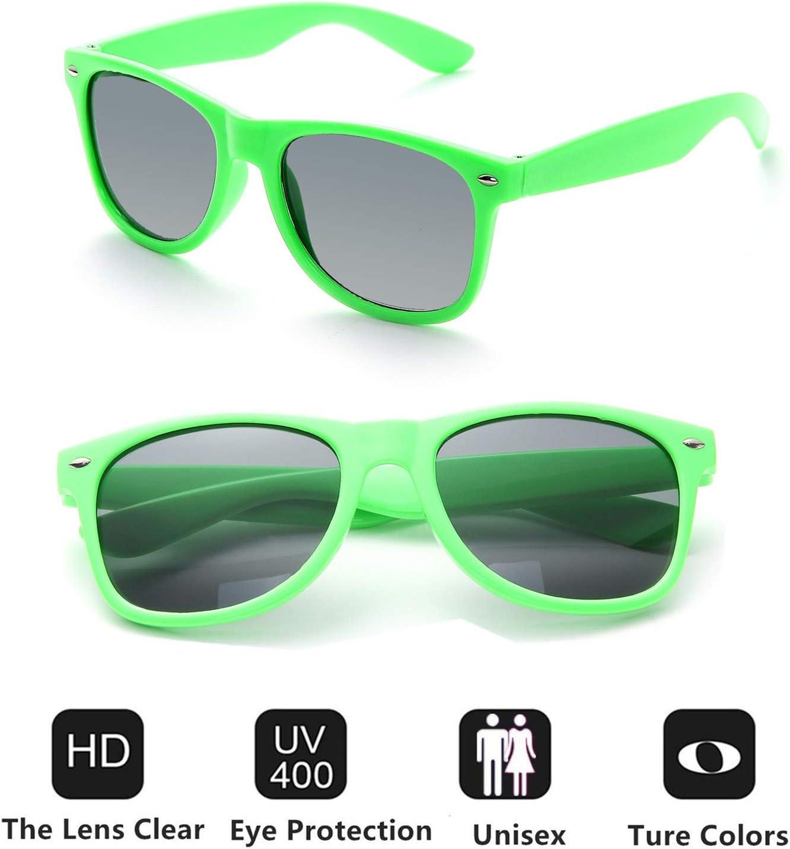 FSMILING Wholesale Unisex 80S Retro Style Bulk Promotional Sunglasses 10 Pack Blue Party Glasses