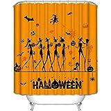 "Fashion Custom Happy Halloween Waterproof Polyester Fabric Shower Curtain 60"" x 72"""