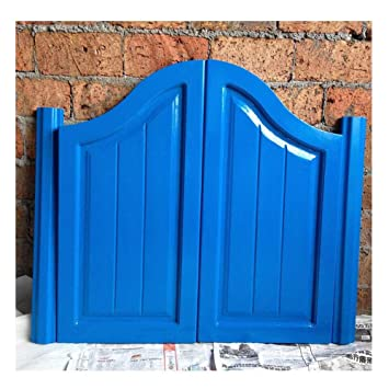 22 Colors Color : Blue, Size : 100x60cm CAIJUN Swinging Doors Cafe Doors Solid Wood Saloon Door Bar Entrance Door Terrace Partition Decoration American Style
