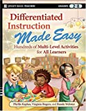 Differentiated Instruction Made Easy, Phyllis Kaplan and Virginia Rogers, 0470372354