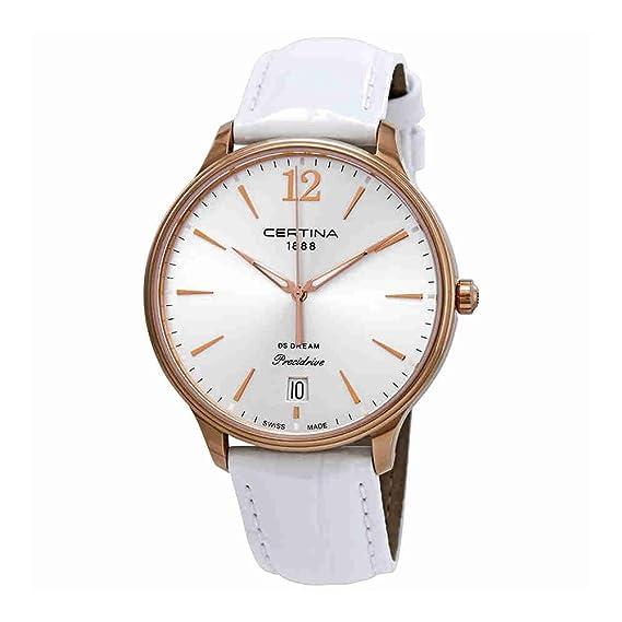 Certina DS Caimano de piel de color negro señoras reloj de cuarzo c0174103603700