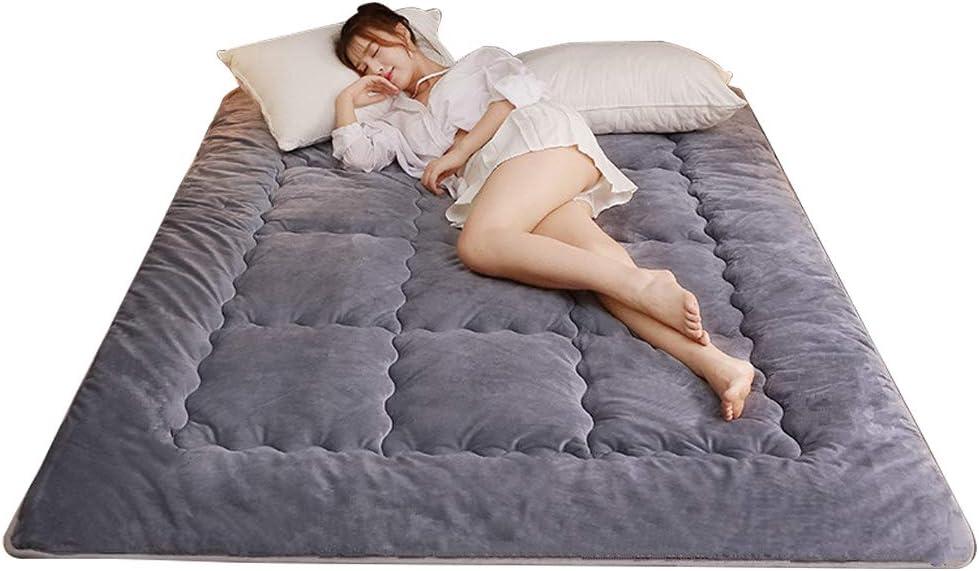 Colchoneta de futón de algodón Tatami, antideslizante, plegable, cómoda colchoneta portátil para dormir, dormitorio de estudiantes japoneses 1.35 * 2.0m B: Amazon.es: Hogar