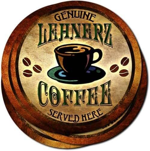 Lehnerz Coffee Neoprene Rubber Drink Coasters - Set of 4
