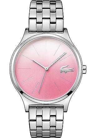 Lacoste Reloj Análogo clásico para Mujer de Cuarzo con Correa en Acero Inoxidable 2000991: Amazon.es: Relojes