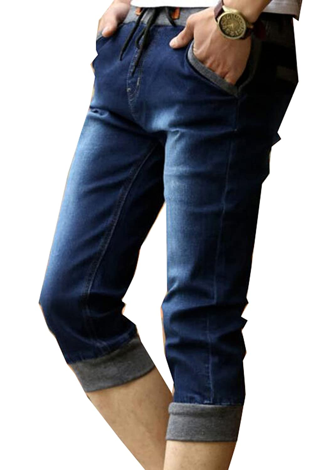 NQ Men's Advanced Comfort Relaxed Fit Skinny Jeans Short