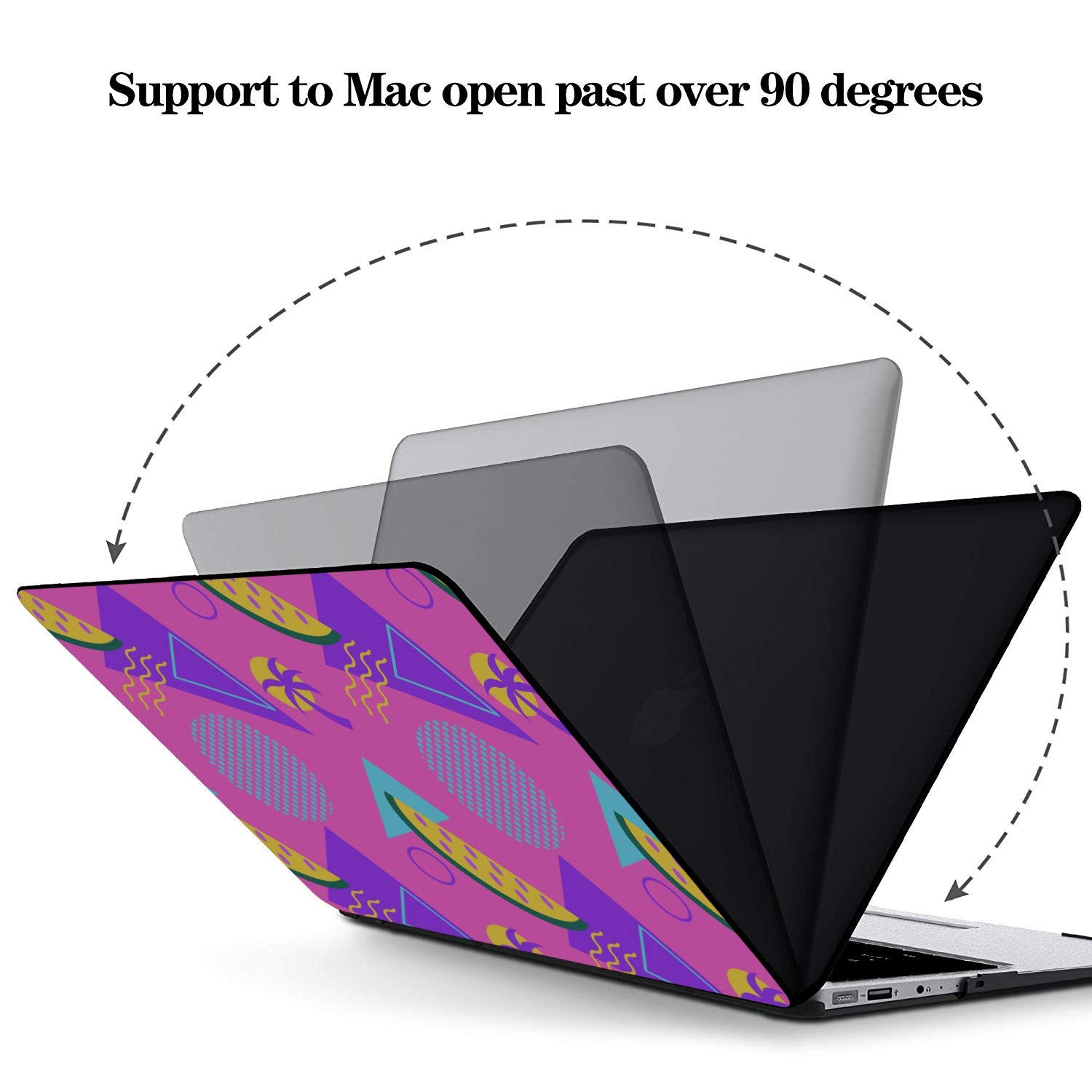 13 Inch Laptop Case Summer Fashion Cute Fruit Watermelon Plastic Hard Shell Compatible Mac Air 11 Pro 13 15 MacBook Pro Cover Protection for MacBook 2016-2019 Version