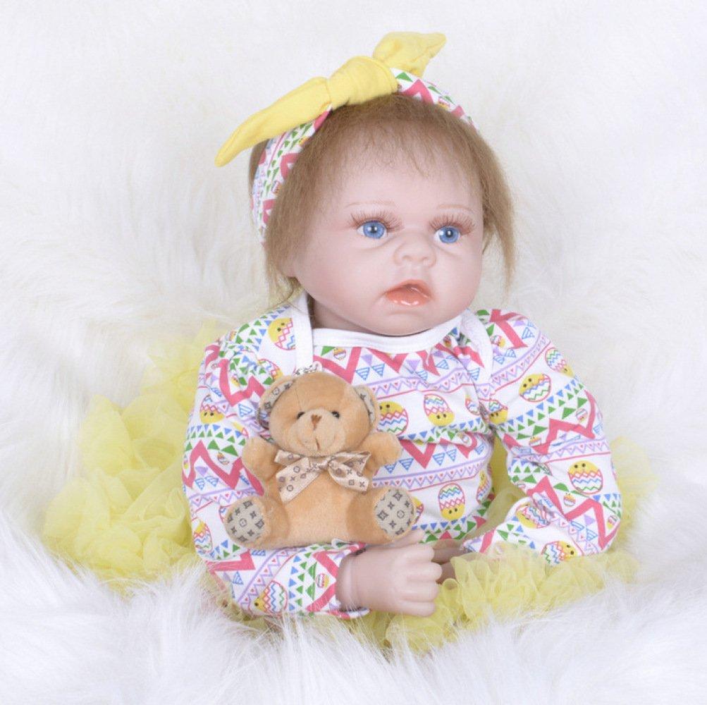 Reducción de precio Nurturing Dolls Muñeca Reborn Ojos Azules De Bebé 55cm Calidad Realista Hechas A Mano Bebé Vinilo Suave como Regalo O Juguete
