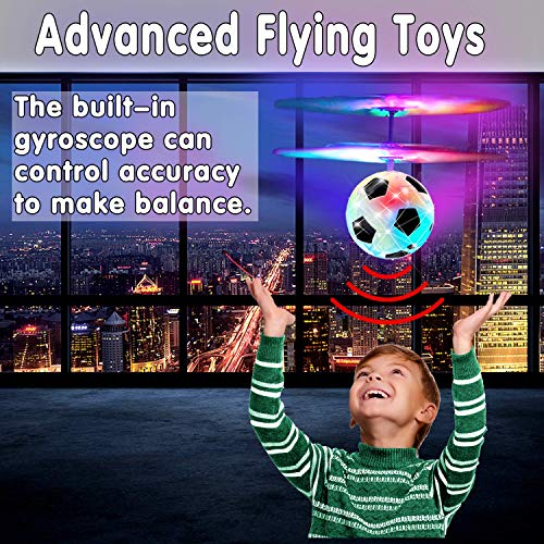 Flying Ball Drone, Kids Flying Toys Boys Girls Light Up Ball Drone RC Infrared Induction Helicopter with Remote Controller UFO Aircraft Toys Games Toys for 1 2 3 4 5 6 7 8 9 10 Year Old Indoor Outdoor by AMENON (Image #3)