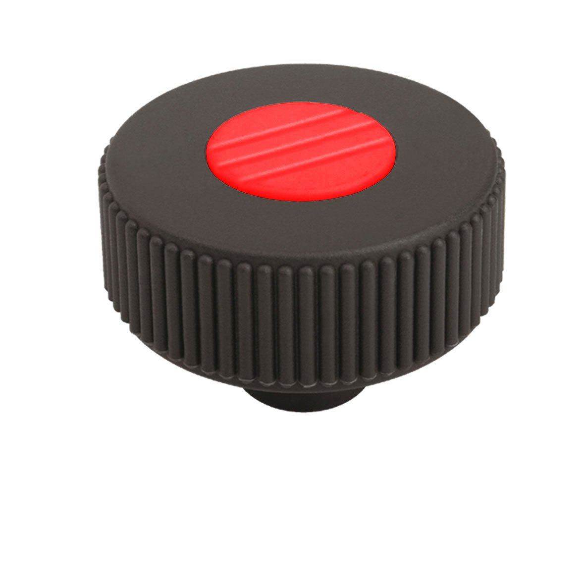 40 mm Diameter M5 Female Thread Pack of 10 31 mm Height Traffic Red Kipp 06266-21056 Thermoplastic Novo-Grip Tapped Through Hole Knurled Wheel Style K Steel Components Size 1 Metric