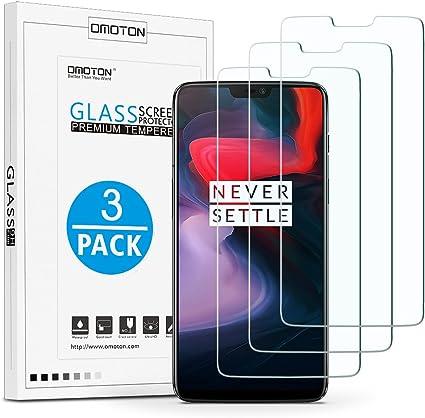 OMOTON OnePlus 6 Protector de Pantalla, Cristal Templado, Anti ...