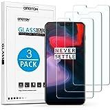OMOTON OnePlus 6 Protector de Pantalla, Cristal Templado, Anti-arañazos, Sin Burbujas, Screen Protector para OnePlus 6 [3 Unidades]