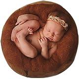 Sunmig Newborn Baby Wool Fluff Photo Props Merino Basket Stuffer Basket Filler Rug Photography Prop (Coffee)