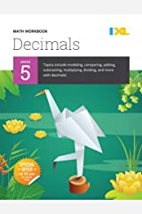 IXL | Grade 5 Decimals Math Workbook | Fun Math Practice for Ages 10-11, 112 pgs Paperback