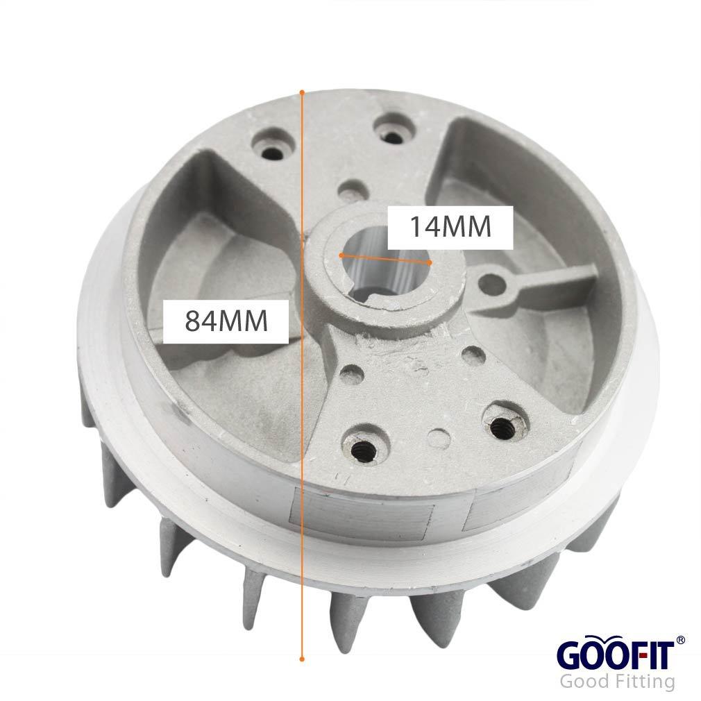 GOOFIT 18-Fin Flywheel for 2 Stroke 47cc 49cc Mini Pocket Bike Super Bike Mini Quad
