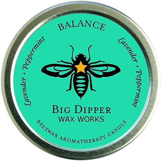 Amazon.com: Big Dipper Wax Works Pure Organic Aromatherapy Beeswax Tins -  1.7 Ounces Inc. (Balance): Home & Kitchen