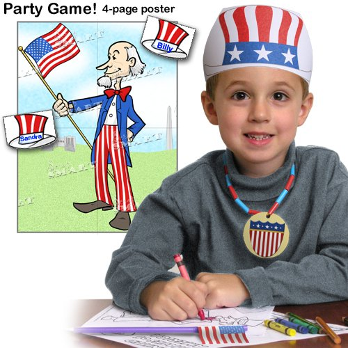 Scrapsmart - Patriotic Party Software Kit - Jpeg, Pdf, and Microsoft Word Files (CDPATPA170) by STORE SMART (Image #2)