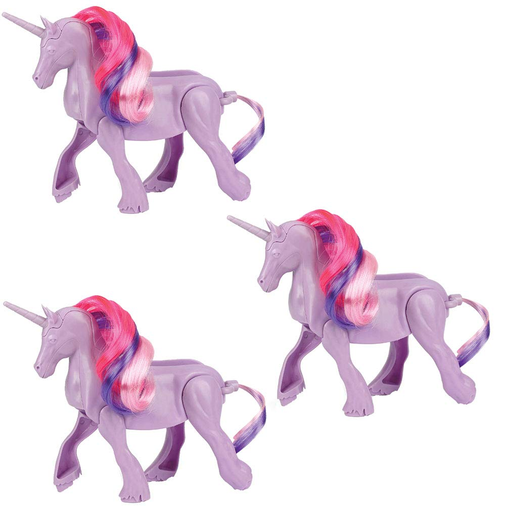 (Set/3) Unicorn Taco Holder ABS Plastic w/Rubber Feet - Dinner Table Magic