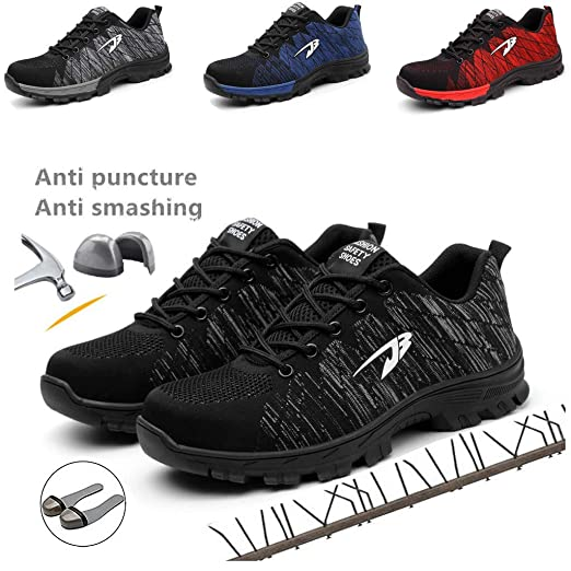 Disnation zapatos de seguridad indestructibles para hombres ...
