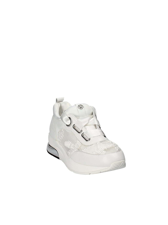 Sneakers Tyra con Tomaia Realizzata a in Pelle e Tessuto a Realizzata Rete con Ricami in Raso  Snow White 0f4d74