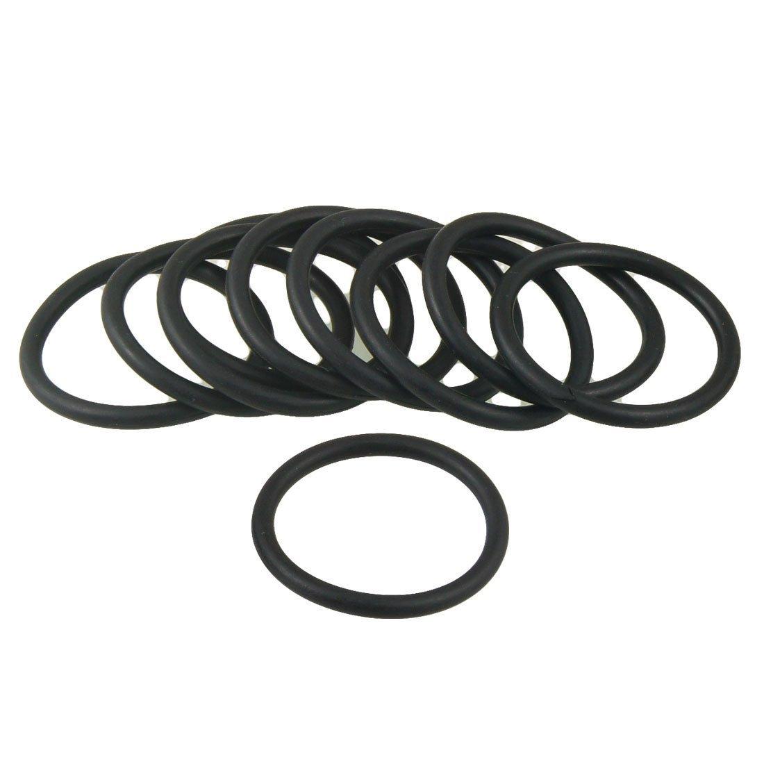 R TOOGOO O Ring 10 Stueck 28 mm x 3,5 mm schwarz Nitril-Butadien-Kautschuk O-Ringe Oil Seals Dichtungen