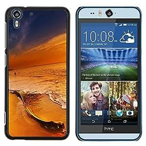 Jordan Colourful Shop - Sunset Beach Colors For HTC Desire EYE M910x Personalizado negro cubierta de la caja de pl????stico