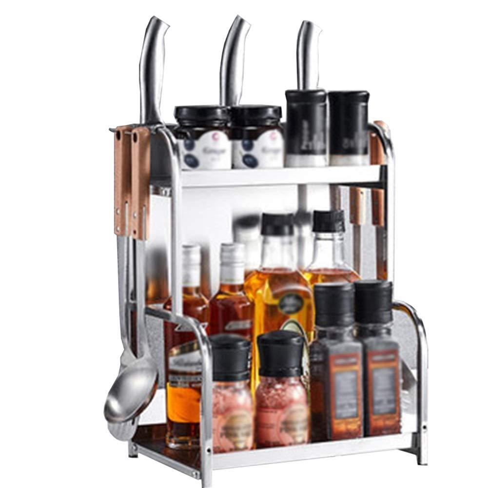 Shelf Storage Rack Stainless Steel Kitchen Rack Multi-Function Rack Spice Box Rack (Size : 224240cm) by DAN-Shelf