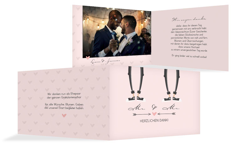 Hochzeit Dankeskarte Pärchen - Männer, 10 Karten, Rosa B07B6RRZK1 | Neue Produkte im Jahr 2019  | Smart  | Vielfalt