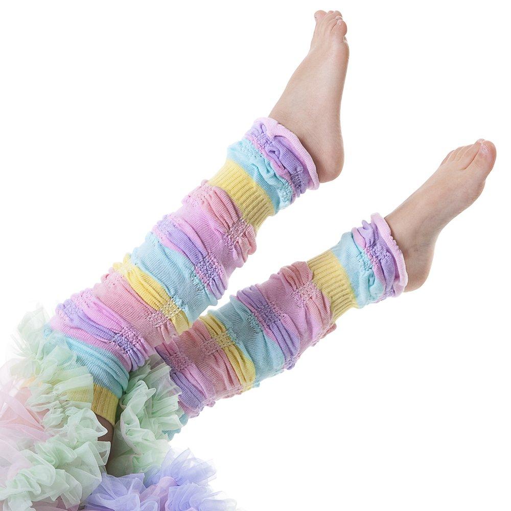Huggalugs Baby & Toddler Girls Sherbet Stripe Legruffle Leg Warmers