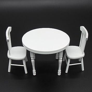 Dollhouse Table NOIRE et 2 chaises échelle 1:12