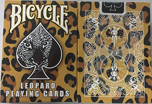 - Bicycle Leopard Deck Playing Cards - Leopard Skin Back Design