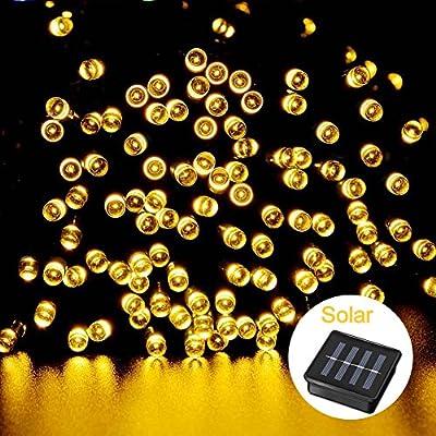 Tepoinn Solar Christmas Lights,39ft 100 LED Waterproof Solar Fairy String Lights for Indoor, Outdoor,Gardens, Homes, Wedding, Christmas Decroation