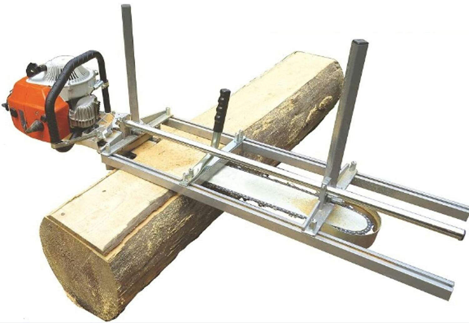 TTF Chainsaw Mill Attachment Chainsaw Milling Planking Milling Bar Planking Cutting Guide Bar Chainsaw Mill Guide Sawmill For Chainsaw Portable Chain Sawmill Attachment (14''-36'')