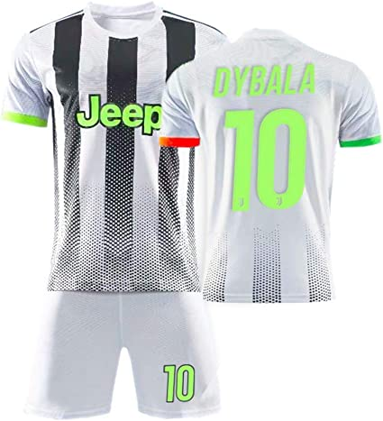 Ronaldo Le 7 Palace Fluorescent Green Special Edition Set De Football pour Enfants Adultes Maillot De La Juventus Dybala Le 10