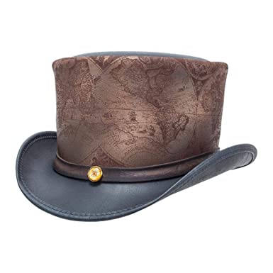 33423741f Amazon.com: American Hat Makers hAtlas by Steampunk Hatter Leather ...