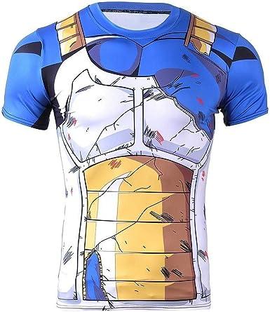 Cosplay Camiseta compresión Vegeta Battle Armor - Camiseta musculosa: Amazon.es: Ropa y accesorios