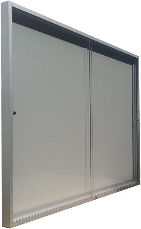 Vitrina de anuncios para 4 formatos A4 de puertas correderas fondo ...