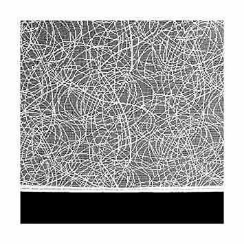 Vorhang 250x200cm Breite:freiwählbar Schlaufenschal Store Maßanfertigung in Weiss Abstraktes Netz Design Höhe: 250cm Gardine