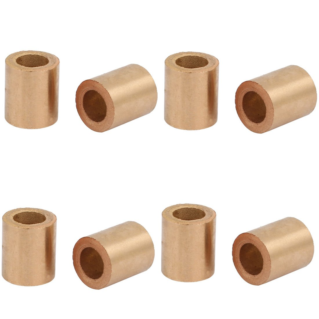 sourcingmap® 6mmx10mmx12mm Powdered Metal Bronze Sleeve Bearing Bushing 8pcs
