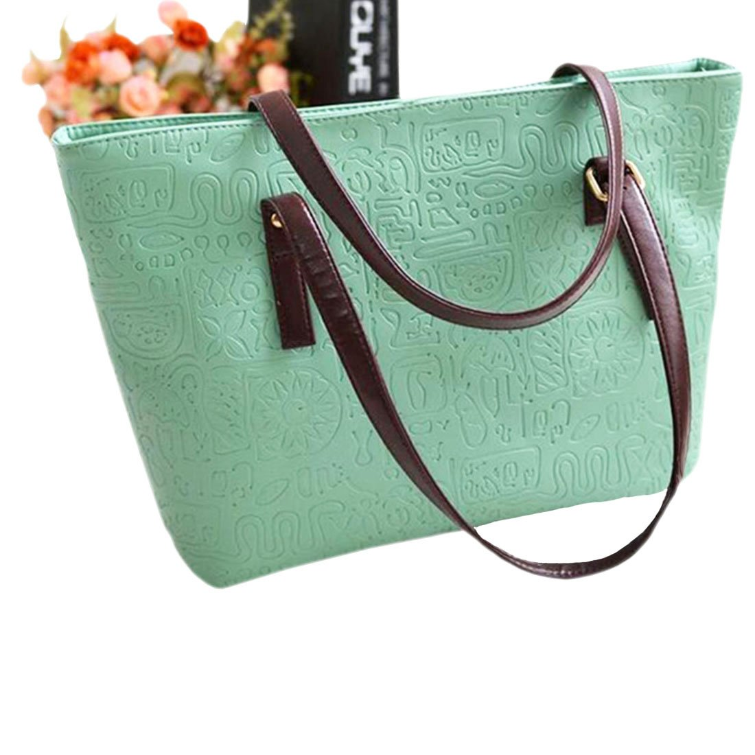 womens Shoulder Bag Casual Big Shoppingbags Tote Handbag Work Bag Travel Bags for Women Girls Ladies (Light green)