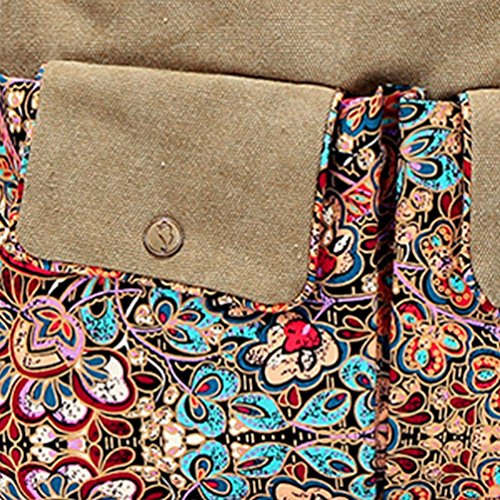 Chang Spent bolso del bolso del mensajero de la lona del viento nacional de las mujeres jóvenes , a a